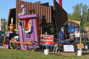 "Riva del Lago Condo Association, ""Tric Trac Train Wreck"" scarecrows"