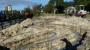 Construction has begun on the Children's Garden at Lakes Park