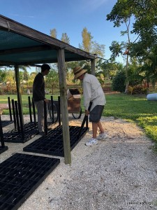 Fragrance Garden at Lakes Park gets new propagation tables.