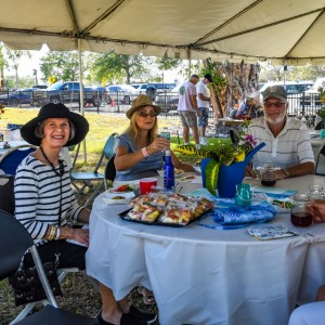 """More valued park patrons relaxing in the shade of the """"big top"""" tent 