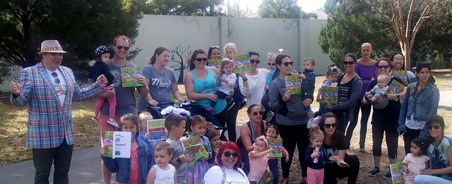 YOU get a book! And YOU get a book! AND YOU GET A BOOK! StoryTime in the Garden with The Zaniacs at Lakes Park, March 21st, 2018