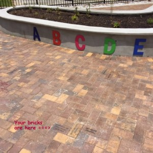 Bricks installed at Lakes Park in Fort Myers, FL - CALDWELL