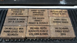 Has your brick arrived yet? HELP US PAVE THE PARK!
