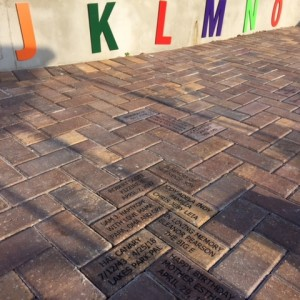 Bricks Installed at Lakes Park June 2018  Childrens Garden - Locator photo