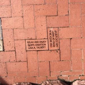 Brick installations in the Lakes Regional Park Rose Garden