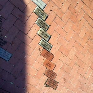 Bricks installed in the Rose Garden at Lakes Park in Fort Myers, FL - August 2018