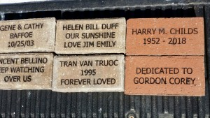 PAVE THE PARK! Bricks donated by Bellino, Duff, Baffoe, Shy, and Lemay