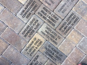 Pavers donated to the Children's Garden, Lakes Park, Fort Myers, FL