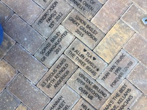 Pavers donated to the Children's Garden, Lakes Park, Fort Myers FL