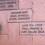 Pavers donated in Rose Garden, Lakes Park, Fort Myers, FL
