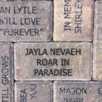 Paver donated in Children's Garden, Lakes Park, Fort Myers FL