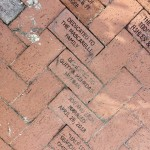 Pavers donated in the Rose Garden at Lakes Park Fort Myers FL