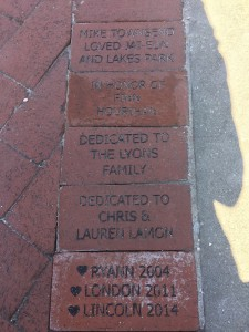 Bricks installed at the Train Museum in Lakes Regional Park, Fort Myers FL