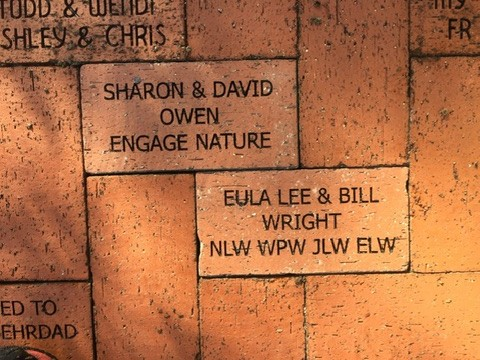 Bricks installed at the Rose Garden in Lakes Park, Feb. 2nd, 2019 - thank you, Elizabeth Wright and Sharon Jenkins-Owen