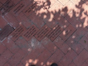Bricks donated to the Rose Garden at Lakes Park
