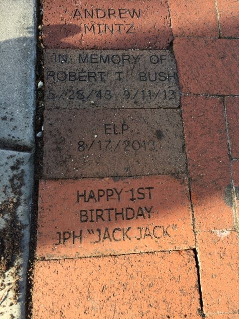 Brick donated to the Train Museum pathways at Lakes Park by Melissa Irvine
