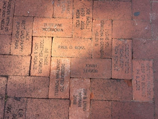 BRICKS DONATED TO TRAIN MUSEUM PATHWAY AT LAKES PARK
