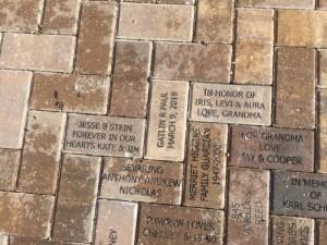 Bricks installed in the CHILDREN'S GARDEN: Thanks to Kate Neuman, Spencer Lawrence, Roslyn Segal