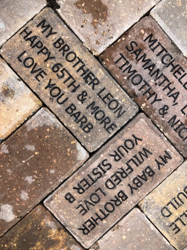 Bricks donated to the Childrens Garden by Barbara Manzo