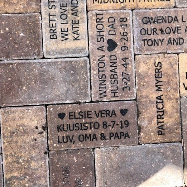 Brick donated in the Childrens Garden by Ursula McPherson - thank you!