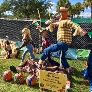 """Scarecrows in the Park Most Creative Display: Elite Runner Youth Running Club (ERYRC), """"You Can RUN But You Cannot HIDE"""", sponsored by VanDyk Mortgage"""