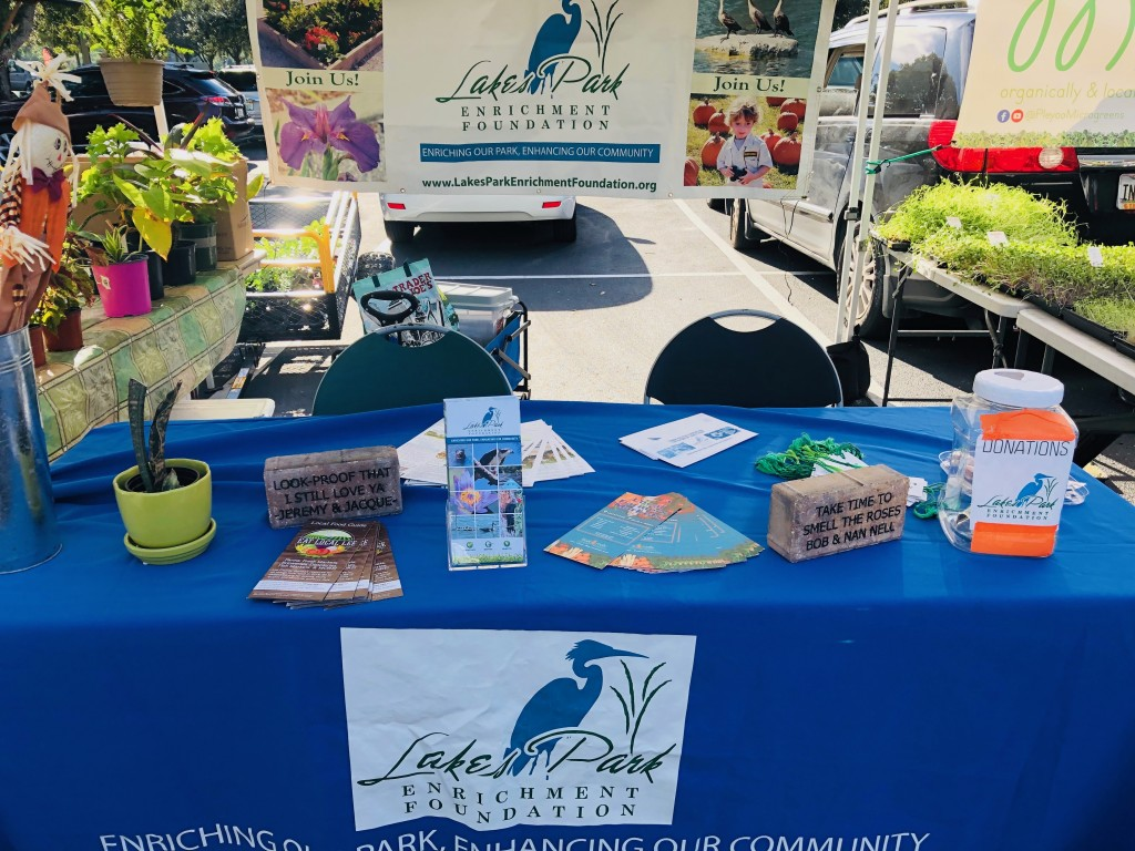 The Foundation's booth at the Farmer's Market - stop by and say hello next time you're there!