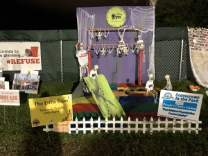 "Scarecrows in the Park - Best Business/Organization Created Display: The Little Gym, ""Seriously Spooky Little Gym"""