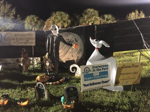 "Scarecrows in the Park - Best Halloween Theme: Lehigh Elementary School, ""Our Happy Place"", sponsored by GameTime"
