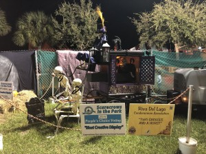 "Scarecrows in the Park - Most Creative Display: Riva Del Lago Condominium Association, ""Two Ghoules and a Hurst"""