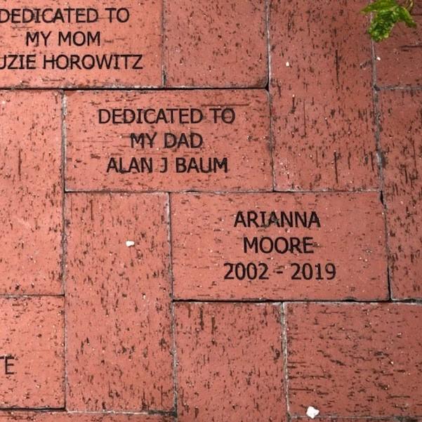 Bricks dedicated in the Rose Garden by Robin Baum and Karen Jarboe - thank you!