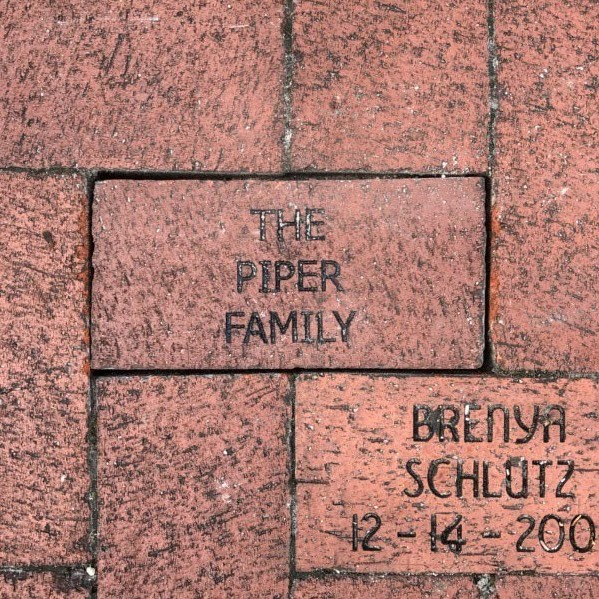 Brick dedicated at the Train Museum by Michael Piper - thank you!