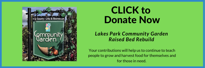 Donate to help rebuild the Lakes Park Community Garden beds