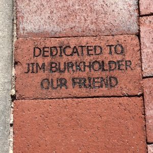 Bricks installed in lakes park at the train museum