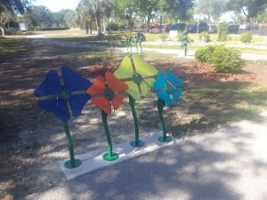Another set of musical instruments installed in the Children's Garden at Lakes Park