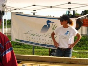 Wendi Carroll helped to build the original Lakes Park Enrichment Foundation garden beds circa 2010